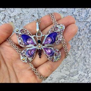 💜Purple💜 Butterfly 🦋Necklace 🦋